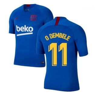 2019-2020 Barcelona Nike Training Shirt (Blue) - Kids (O DEMBELE 11)