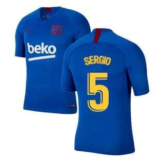 2019-2020 Barcelona Nike Training Shirt (Blue) - Kids (SERGIO 5)
