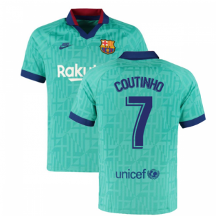 2019-2020 Barcelona Third Nike Football Shirt (COUTINHO 7)
