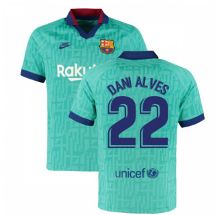 2019-2020 Barcelona Third Nike Football Shirt (DANI ALVES 22)