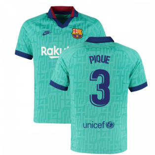 2019-2020 Barcelona Third Nike Football Shirt (PIQUE 3)