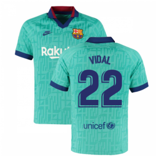 2019-2020 Barcelona Third Nike Football Shirt (VIDAL 22)