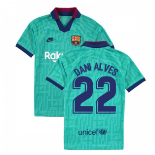 2019-2020 Barcelona Third Nike Shirt (Kids) (DANI ALVES 22)