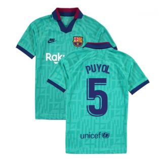 2019-2020 Barcelona Third Nike Shirt (Kids) (PUYOL 5)