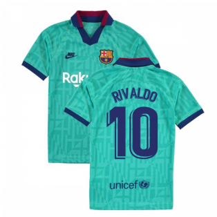 2019-2020 Barcelona Third Nike Shirt (Kids) (RIVALDO 10)