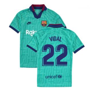 2019-2020 Barcelona Third Nike Shirt (Kids) (VIDAL 22)