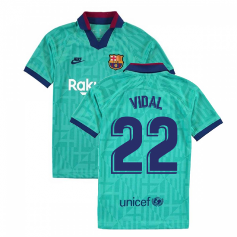 2019-2020 Barcelona Third Nike Shirt (Kids) (VIDAL 22)