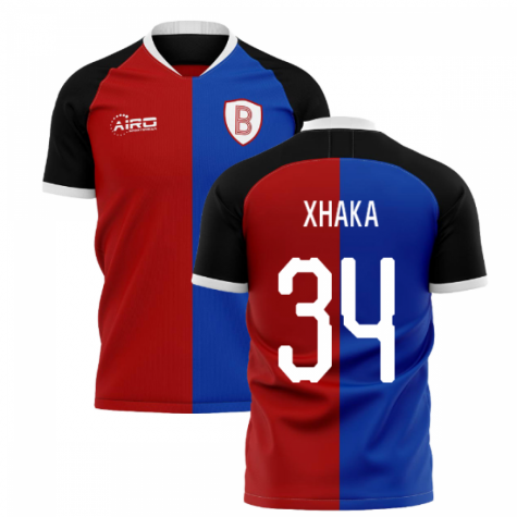2020-2021 Basel Home Concept Shirt (Xhaka 34)