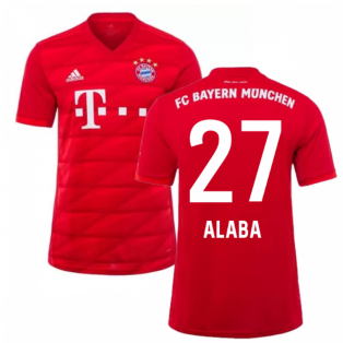 2019-2020 Bayern Munich Adidas Home Football Shirt (ALABA 27)