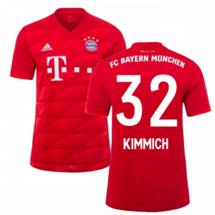 2019-2020 Bayern Munich Adidas Home Football Shirt (KIMMICH 32)