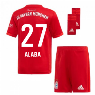 2019-2020 Bayern Munich Adidas Home Little Boys Mini Kit (ALABA 27)