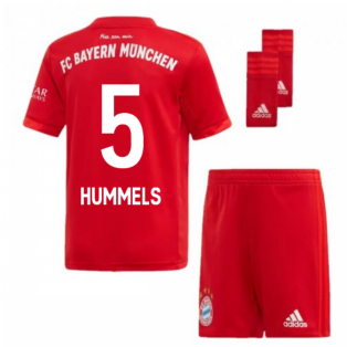 2019-2020 Bayern Munich Adidas Home Little Boys Mini Kit (HUMMELS 5)