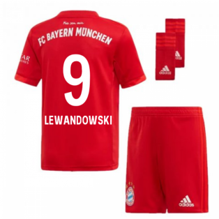 be98af9b732 2019-2020 Bayern Munich Adidas Home Little Boys Mini Kit (LEWANDOWSKI 9)