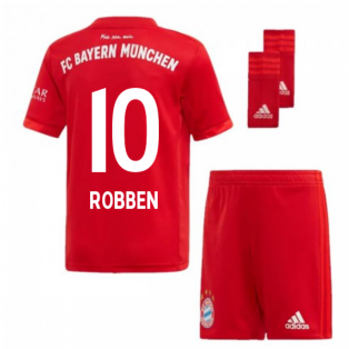 2019-2020 Bayern Munich Adidas Home Little Boys Mini Kit (ROBBEN 10)