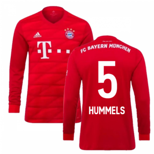 2019-2020 Bayern Munich Adidas Home Long Sleeve Shirt (HUMMELS 5)