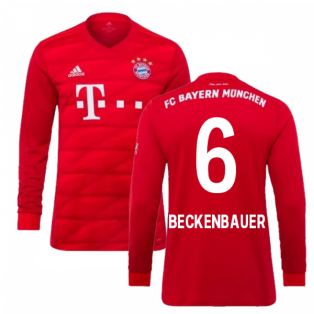 2019-2020 Bayern Munich Adidas Home Long Sleeve Shirt (Kids) (BECKENBAUER 6)