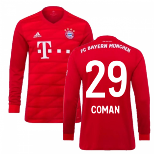 2019-2020 Bayern Munich Adidas Home Long Sleeve Shirt (Kids) (COMAN 29)