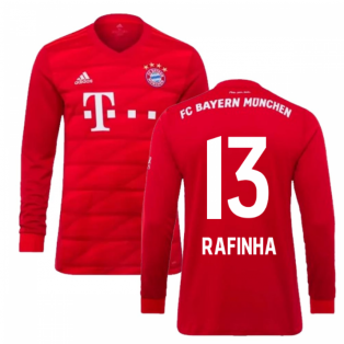 2019-2020 Bayern Munich Adidas Home Long Sleeve Shirt (Kids) (RAFINHA 13)