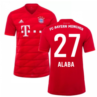 2019-2020 Bayern Munich Adidas Home Shirt (Kids) (ALABA 27)
