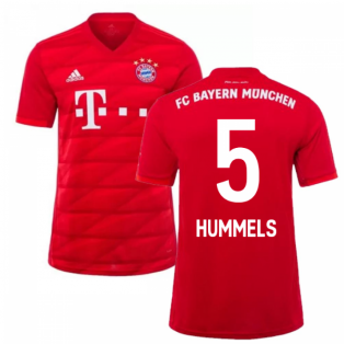 2019-2020 Bayern Munich Adidas Home Shirt (Kids) (HUMMELS 5)
