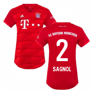 2019-2020 Bayern Munich Adidas Home Womens Shirt (SAGNOL 2)