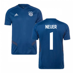 874612947a0 2019-2020 Bayern Munich Adidas Training Shirt (Night Marine) (NEUER 1)