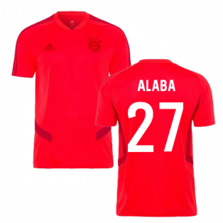 2019-2020 Bayern Munich Adidas Training Shirt (Red) (ALABA 27)