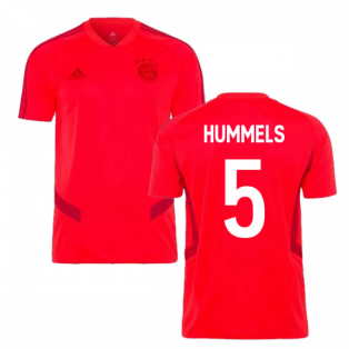 2019-2020 Bayern Munich Adidas Training Shirt (Red) (HUMMELS 5)
