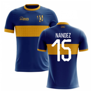 2020-2021 Boca Juniors Home Concept Football Shirt (Nandez 15)