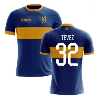2020-2021 Boca Juniors Home Concept Football Shirt (TEVEZ 32)