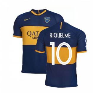 2019-2020 Boca Juniors Home Nike Football Shirt (RIQUELME 10)