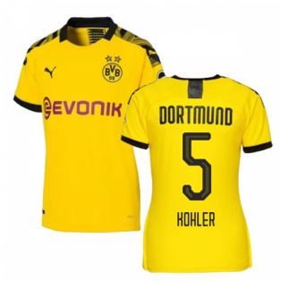 2019-2020 Borussia Dortmund Home Ladies Puma Shirt (KOHLER 5)