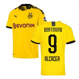 2019-2020 Borussia Dortmund Home Puma Shirt (Kids) (ALCACER 9)