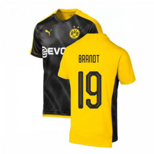 2019-2020 Borussia Dortmund Puma Stadium Shirt (Black-Yellow) (Brandt 19)