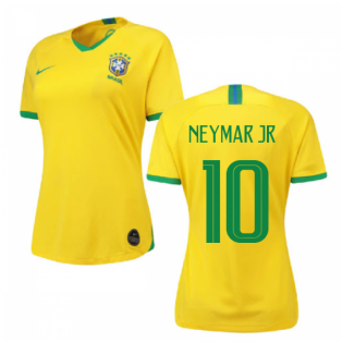 2019-2020 Brazil Home Nike Womens Shirt (Neymar Jr 10)