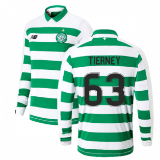2019-2020 Celtic Home Long Sleeve Shirt Kids (Tierney 63)