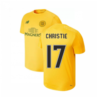 2019-2020 Celtic On Pitch Training Jersey (Yellow) (Christie 17)