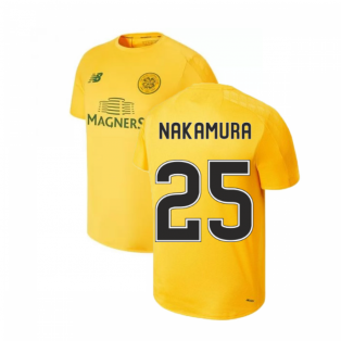 2019-2020 Celtic On Pitch Training Jersey (Yellow) (Nakamura 25)