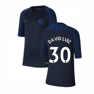 2019-2020 Chelsea Nike Training Shirt (Obsidian) - Kids (David Luiz 30)