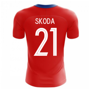 2020-2021 Czech Republic Home Concept Football Shirt (SKODA 21)