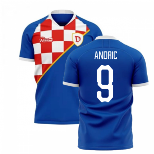 2019-2020 Dinamo Zagreb Home Concept Football Shirt (Andric 9)