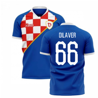 2019-2020 Dinamo Zagreb Home Concept Football Shirt (Dilaver 66)