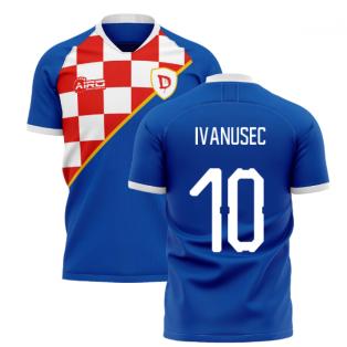 2020-2021 Dinamo Zagreb Home Concept Shirt (Ivanusec 10)