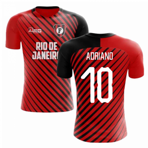 2019-2020 Flamengo Home Concept Football Shirt (Adriano 10) - Kids