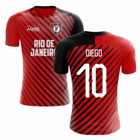 2020-2021 Flamengo Home Concept Football Shirt (Diego 10)