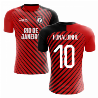 6337f1744 2019-2020 Flamengo Home Concept Football Shirt (Ronaldinho 10)