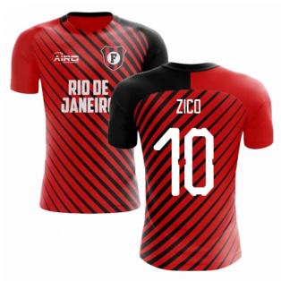2019-2020 Flamengo Home Concept Football Shirt (Zico 10) - Kids