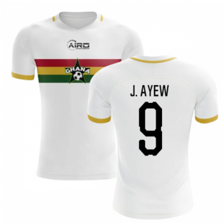 2019-2020 Ghana Away Concept Football Shirt (J. Ayew 9)