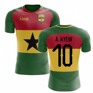 2019-2020 Ghana Flag Concept Football Shirt (A. Ayew 10)