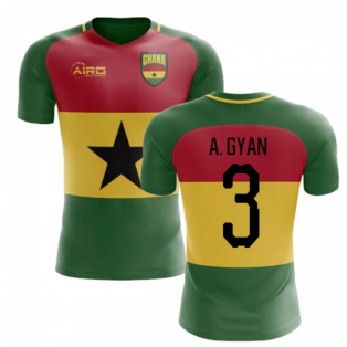 2019-2020 Ghana Flag Concept Football Shirt (A. Gyan 3) - Kids